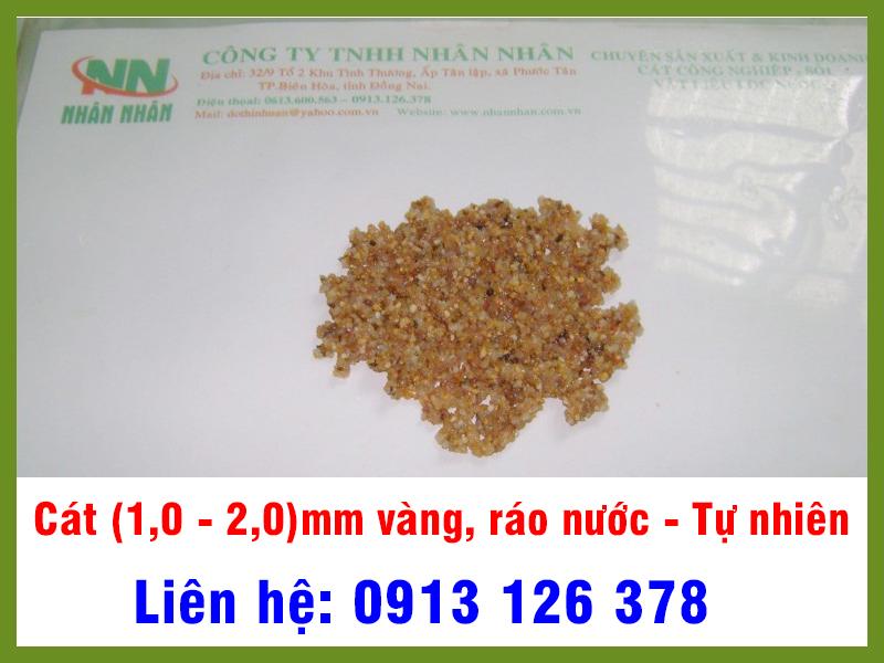 Cát (1,0 - 2,0)mm Vàng, ráo nước tự nhiên