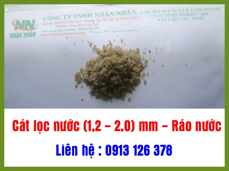 Cát lọc nước(1,2 - 2,0)mm - Ráo nước